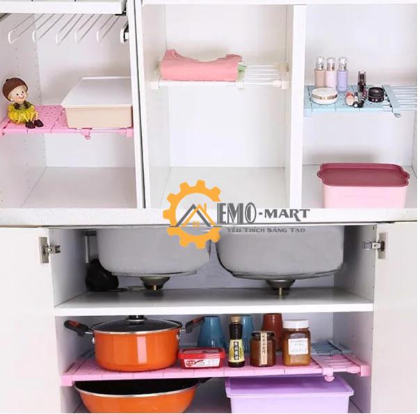 Kệ chia đa năng tiện dùng trong nhà bếp, tủ quần áo, khe giá sách..