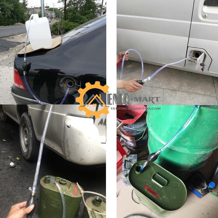 Bơm hút xăng dầu bóp tay dễ dàng tiện lợi cho xe ô tô hoặc bình chứa